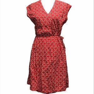 Woolrich Wrap Printed Cotton Textured Dress